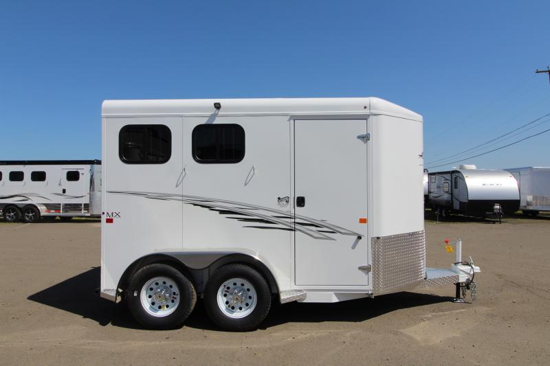 "2018 Trails West Adventure MX Aluminum Skin 7' Tall 6'9"" Wide 2 Horse Trailer"