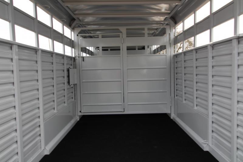 2019 Trails West Hotshot 24 ft. Steel Stock Trailer w/ Sliding Rear Gate - Extra Center Gate - Sort Doors in Center Gates