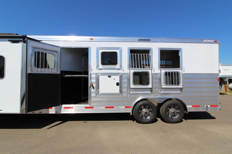 "2018 Exiss 8410 10 ft LQ 4 Horse Trailer - All Aluminum - 7'8"" Tall - Mangers - Stud  Wall- NEW EASY CARE FLOORING - PRICE REDUCED"