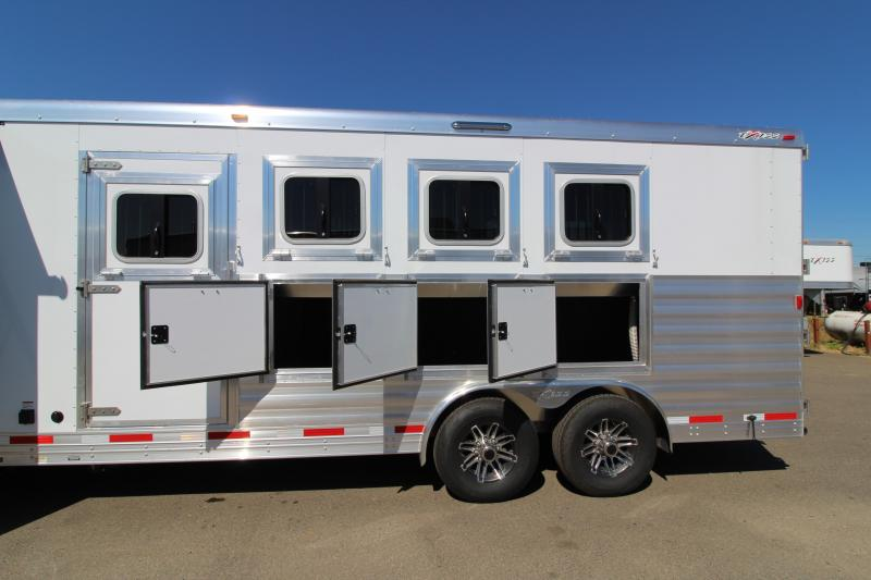 2018 Exiss 8410 10 ft LQ with Slide Out 4 Horse Trailer - All Aluminum - Couch - Large Refrigerator - Easy Care Flooring - 7'8  Tall - PRICE REDUCED