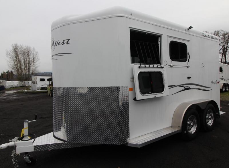 "2019 Trails West Classic II 7' 6"" Tall 2 Horse Trailer Aluminum Skin Steel Frame"