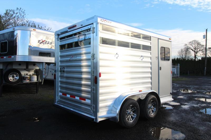2018 Exiss Express CXF 2 Horse Trailer W/ Plexi inserts - Jail Bar Dividers Drop Down WIndows PRICE REDUCED $150