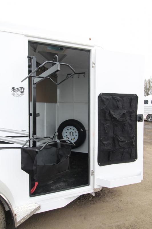 2018 Trails West Adventure II MX 2 Horse Trailer - Swing Out Saddle Rack - Aluminum Skin Steel Frame