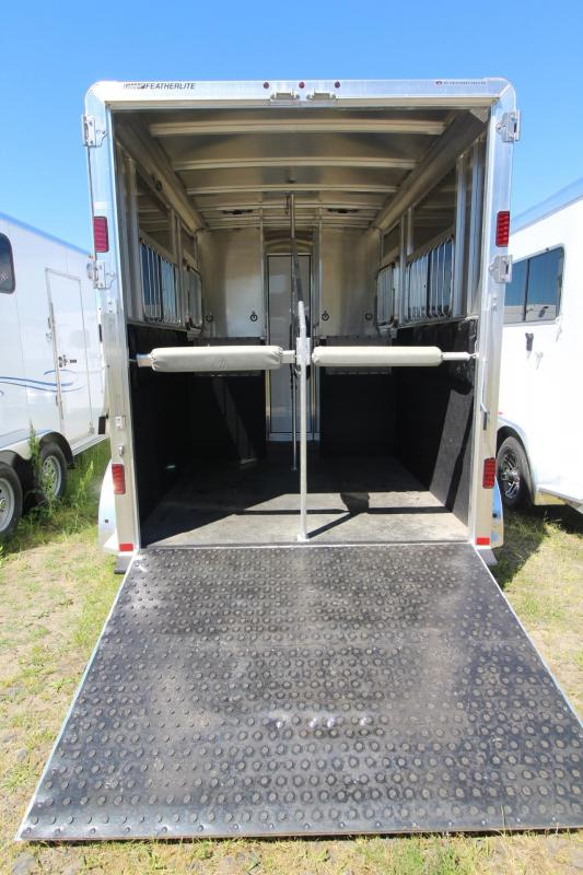 "2017 Featherlite 9407 Aluminum Straight Load 7'6"" Tall - Ramp - 2 Horse Trailer PRICE REDUCED $1300"