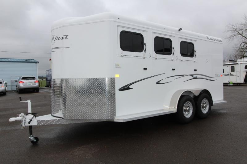 2019 Trails West Classic 3 Horse Trailer - w/ Convenience pkg!