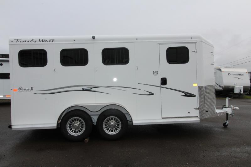 2019 Trails West Classic 3 Horse Trailer - w/ Convenience pkg!