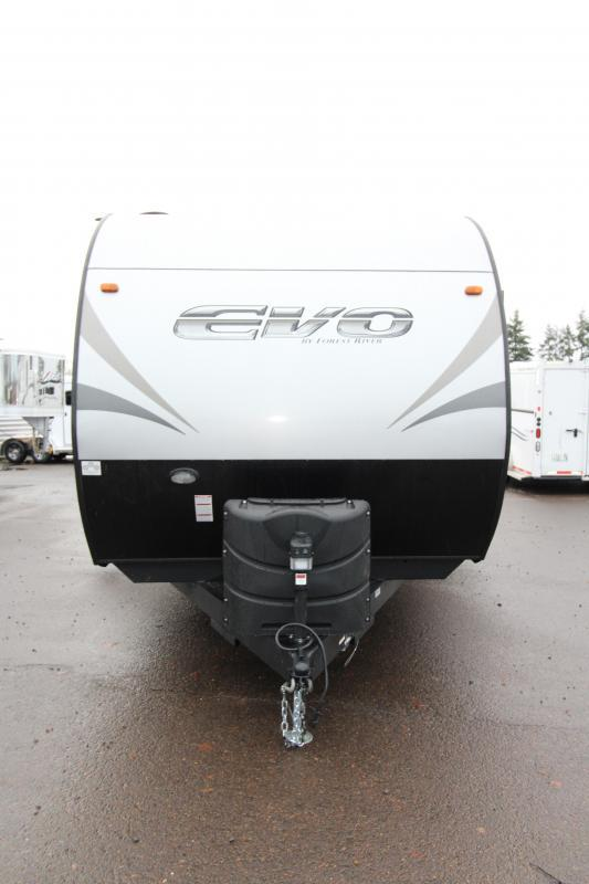 2018 Evo 3250 Travel Trailer - Outside Kitchen - Arctic Package - Double Slide Outs - Stainless Steel Appliances & More! PRICE REDUCED BY $2210