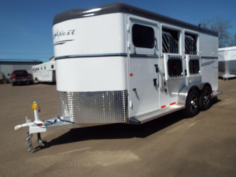 2017 Trails West Sierra Specialite 3 Horse Trailer - Steel Frame Aluminum Skin - First Stall Escape Door