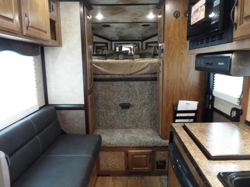 """2018 Trails West 3 Horse Classic Specialite 8' SW LQ 3 Horse -  w/  New Sure Grip Flooring - Rear Tack - 7'6"""" Tall - Escape Door - Pass Though Door - Steel Frame Aluminum Skin"""