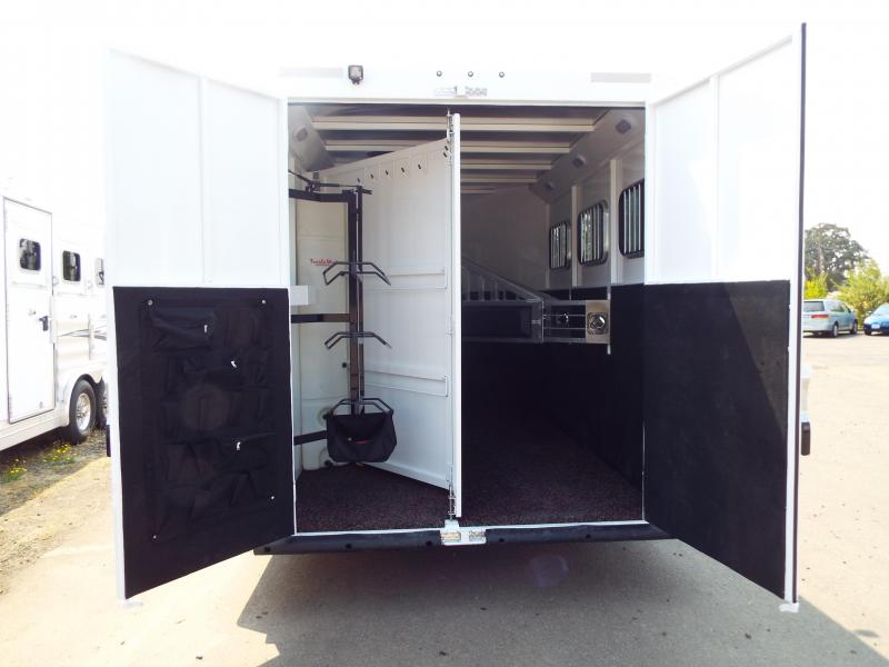 "2018 Trails West 3 Horse Classic Specialite 8' SW LQ 3 Horse -  w/  New Sure Grip Flooring - Rear Tack - 7'6"" Tall - Escape Door - Pass Though Door - Steel Frame Aluminum Skin"