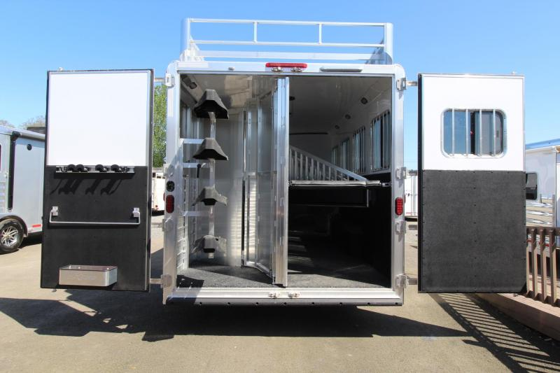 2018 Exiss Endeavor 8414 - 14' short wall LQ - Dinette and Sofa - 4 Horse Trailer - Hayrack