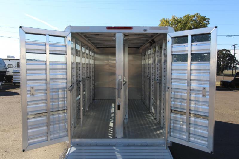 "2019 Exiss Exhibitor Mini Combo 615 Livestock Trailer 6'2"" Tall - 60/40 Pen System - Rear Ramp - Air Gaps - Aluminum Wheels"