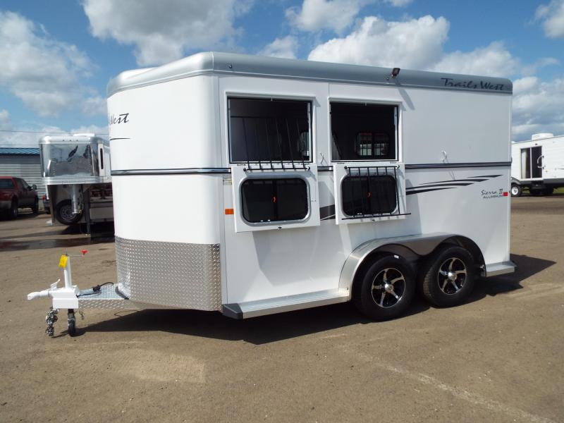 "2017 Trails West Sierra Specialite 2 Horse Trailer - Aluminum Skin - Swing Out Saddle Rack! - Added Height! 7'6"" Tall"
