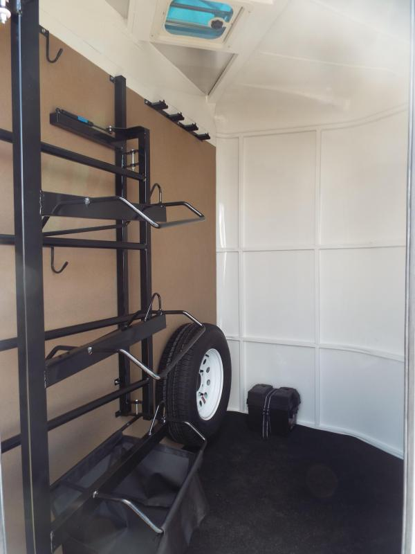 """2017 Trails West Sierra Specialite 2 Horse Trailer - Aluminum Skin - Swing Out Saddle Rack! - Added Height! 7'6"""" Tall"""