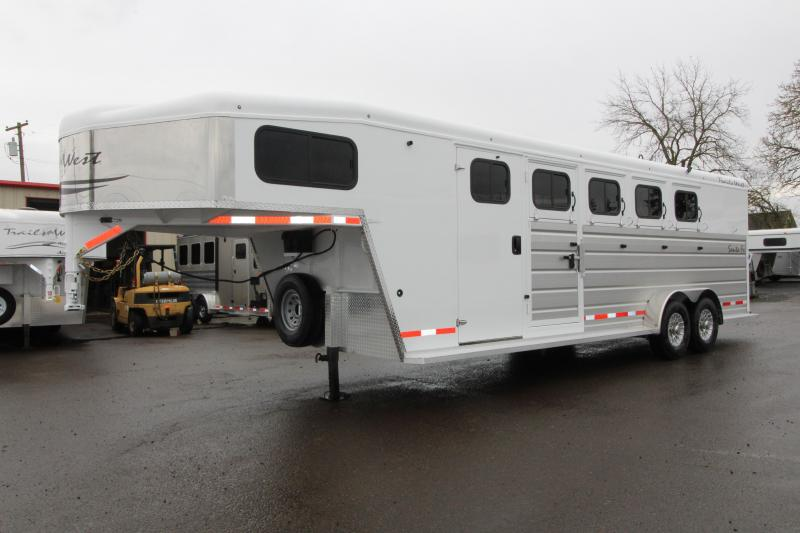 2019 Trails West Manufacturing Santa fe Horse Trailer- With Lonestar Supertack Package