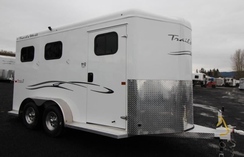 "2019 Trails West Classic Warmblood 7'6"" Tall 2 Horse Trailer Lined & Insulated Roof"
