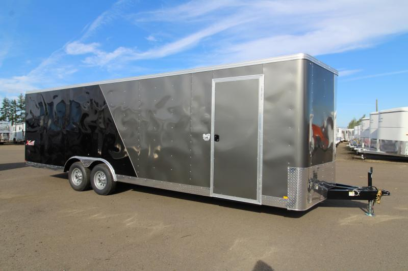 """2020 Mirage Xpres 8.5x24 Car / Racing Trailer - Car carrier package - V nose - Flat roof - 4"""" Drop axles - Dome lights"""