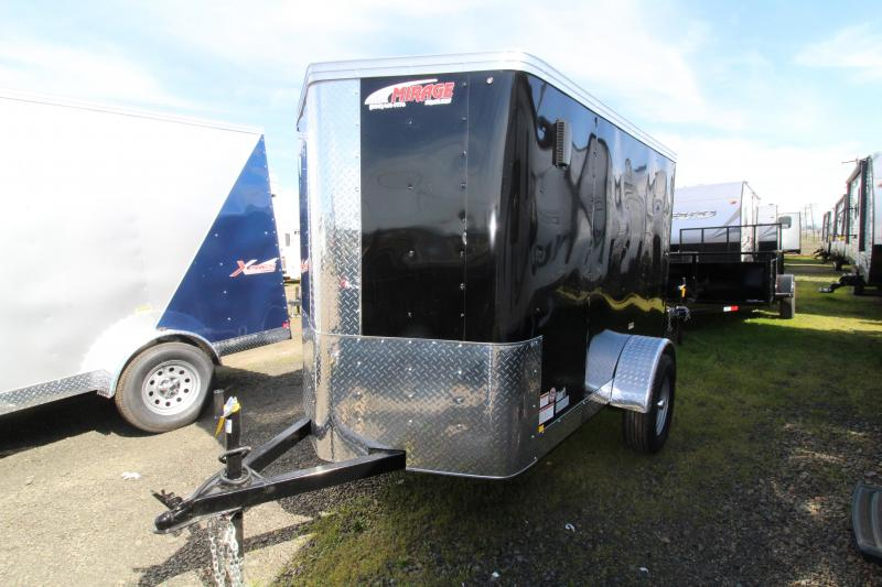 2019 Mirage Trailers Xpress 5x8 Single Axle Enclosed Cargo Trailer-LED Lights