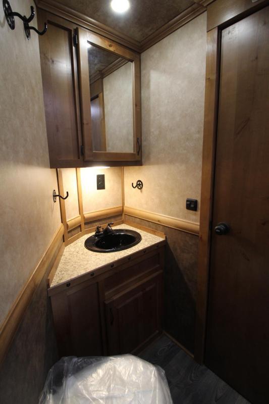 2019 Trails West Sierra 11x15 Living Quarters 8ft wide 2 Horse Trailer
