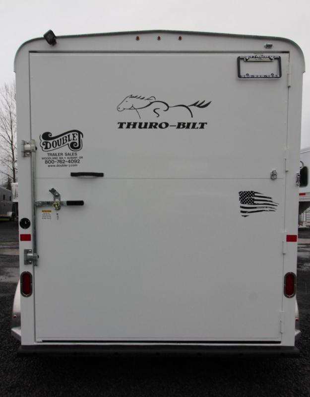 "2019 Thuro-Bilt Shilo 2 Horse Trailer 7' 6"" Tall - Sealed Tack Room"