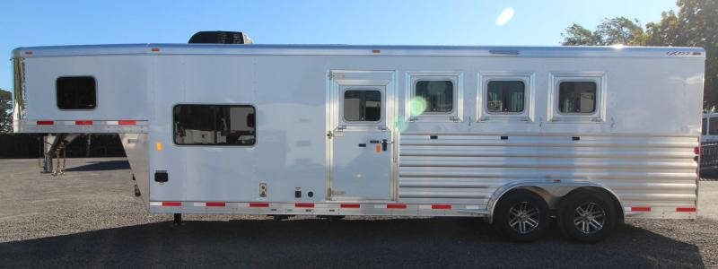 2019 Exiss Escape 7408 - 8ft SW LQ 4 Horse Aluminum Trailer - Easy Care Flooring in WA