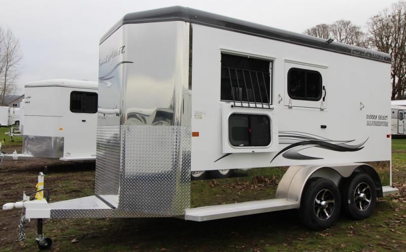"2019 Trails West Sierra Select II 7'6"" Tall 2 Horse Trailer Seamless vacuum bonded aluminum walls & roof"