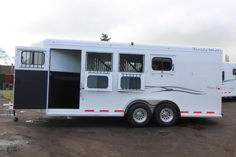 "2018 Trails West Classic II 4 Horse Trailer - 7'6"" Tall -Escape Door - Aluminum Skin Steel Frame"