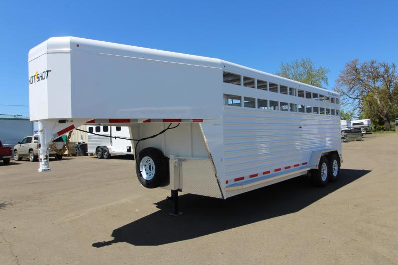2020 Trails West Hotshot 20' Steel Livestock Trailer - With One Piece Aluminum Roof - Sort Door in Center Gate and Slider in Rear Gate  in Ashburn, VA