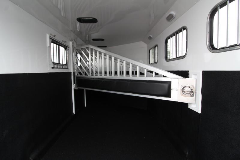2018 Trails West Sierra  - Aluminum Skin Steel Frame - 3 Horse Trailer - Lined and Insulated Horse Area - Swing Out Saddle Rack - PRICE REDUCED BY $700