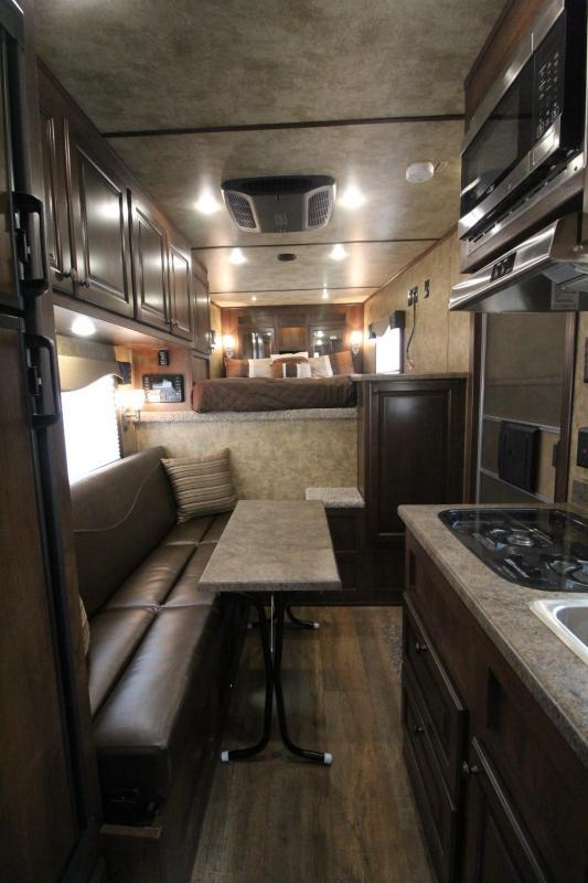2018 Exiss Escape 7410 - 10' Short Wall Living Quarters - 4 Horse Aluminum Trailer - Reduced $800