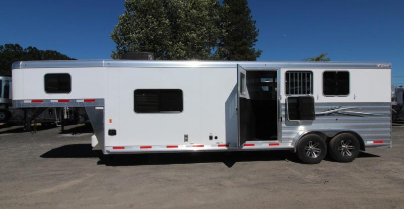 2020 Exiss 7311 CXF 11' Living Quarters 3 Horse Trailer w/ Side Tack - All aluminum - Easy Care Flooring - Electric Awning - AC