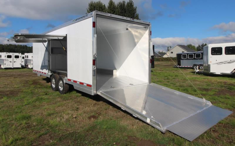 2019 Featherlite 4926 - 24' Car Trailer - Lined & Insulated w/ cabinets