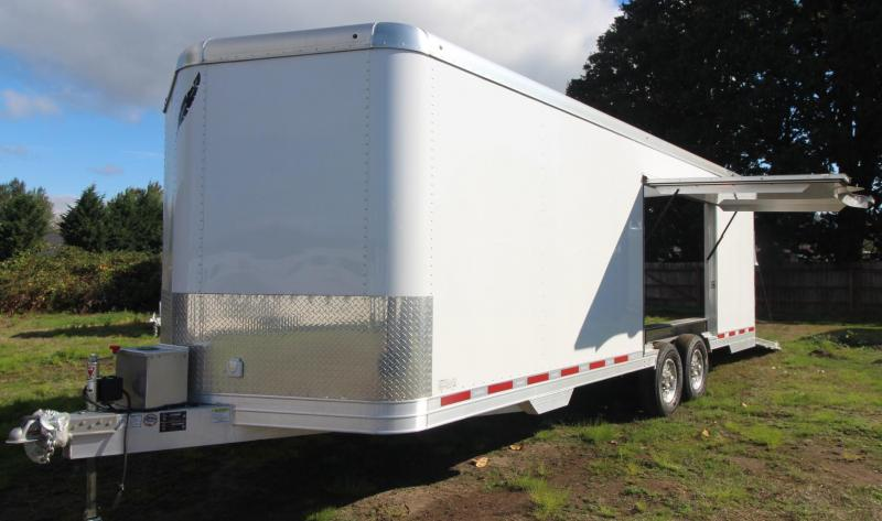 2019 Featherlite 4926 - 24' Enclosed Car Trailer - Lined & Insulated w/ cabinets