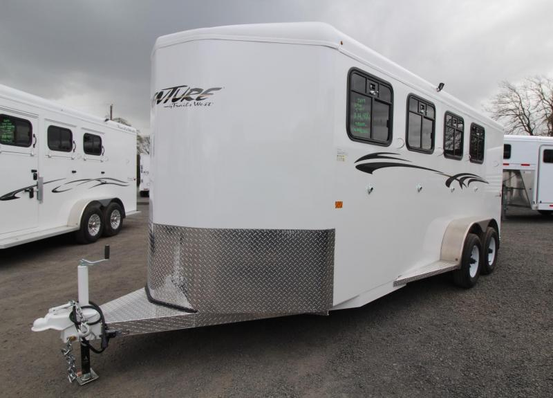2019 Trails West Adventure MX 4 Horse Trailer Convenience Pkg Windows in Rear