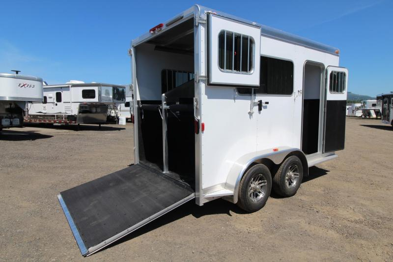 "2017 Exiss Trailers 722 Straight load - 7'8"" Tall-7 Wide-12'5"" Long - Horse Trailer"