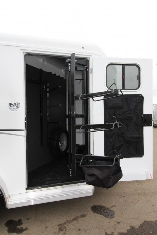 2019 Trails West 2 Horse Classic Trailer - UPGRADED Lined and Insulated Horse Area Ceiling