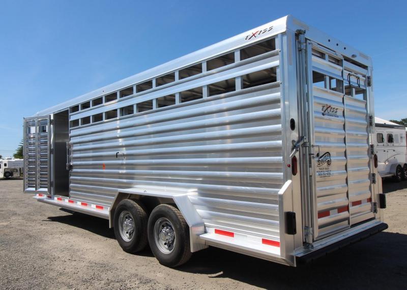2020 Exiss Trailers STC 7024 Livestock Trailer - All aluminum