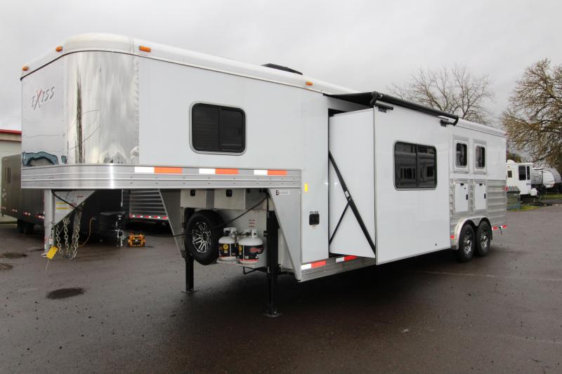"2018 Exiss 8310 - 10 ft LQ 3 Horse Trailer - All Aluminum - 7'8"" Tall - Upgraded Interior - Mangers - Stud  Wall"