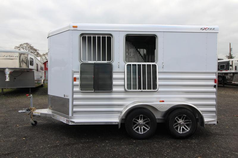 2018 Exiss Express XT - Jail Bar dividers - Polylast Flooring - Carpeted Tack Wall - 2 Horse Trailer PRICE REDUCED