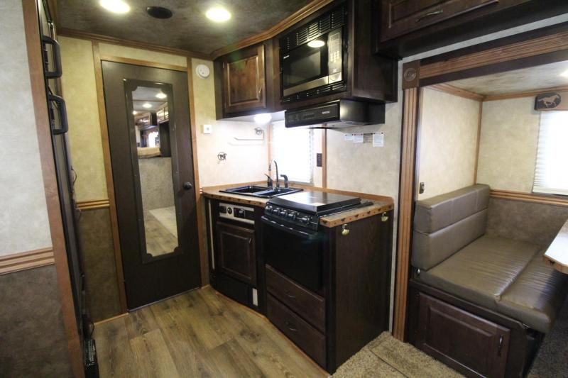 2015 Trails West Sierra 15x19 Living Quarters w/ slide out 4 Horse Trailer *Generator*