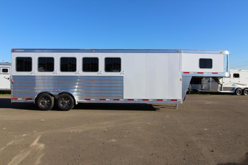 2018 Exiss 7500  - 5 Horse Trailer - All Aluminum - Stud Wall - UPGRADED Easy Care Flooring - REDUCED PRICE