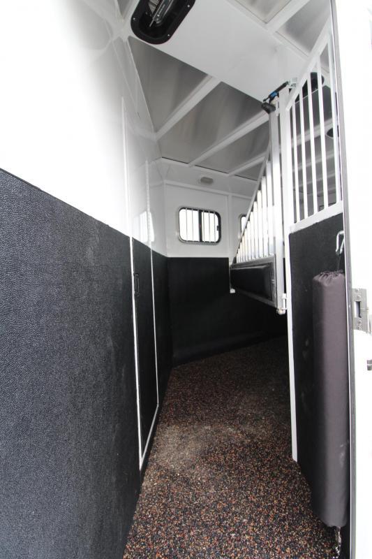 2018 Trails West Classic 8x13 Living Quarters 3 Horse Trailer w/ Mangers - Hoof Grip Easy Care Flooring