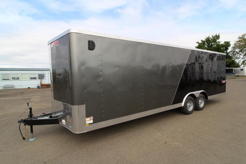 2020 Mirage Xpres 8.5x24 Car / Racing Trailer- Tandem axle - V Nose - Flat roof - Two tone exterior - Car carrier package