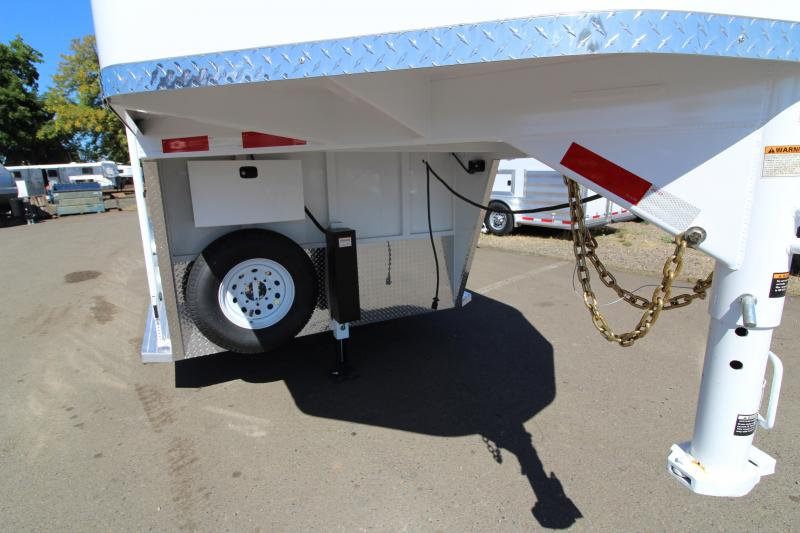 """2019 Trails West 2 Horse GN Classic w/ Comfort Package - Side Tack - Upgraded Axles - 7'6"""" Tall - Hydraulic Jack - Converter w/ 110 Outlets - 15' Awning"""
