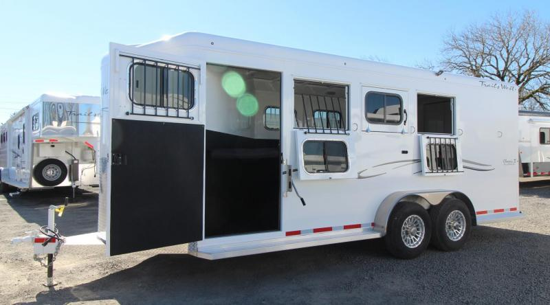 "2019 Trails West Classic Escape Door 7' 6""Tall 4 Horse Trailer"