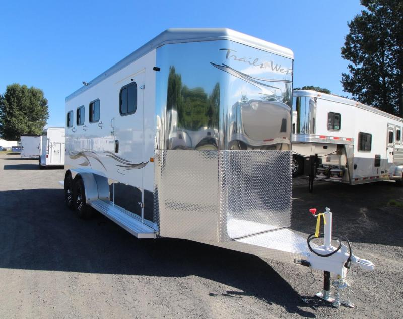 """2020 Trails West Sierra Select 7' 6"""" T 3 Horse Trailer - Seamless Aluminum Vacuum Bonded Walls and Roof"""