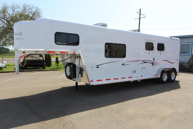 2018 Trails West Classic 10x10 - Side Tack 10' SW 2 Horse Living Quarters Trailer