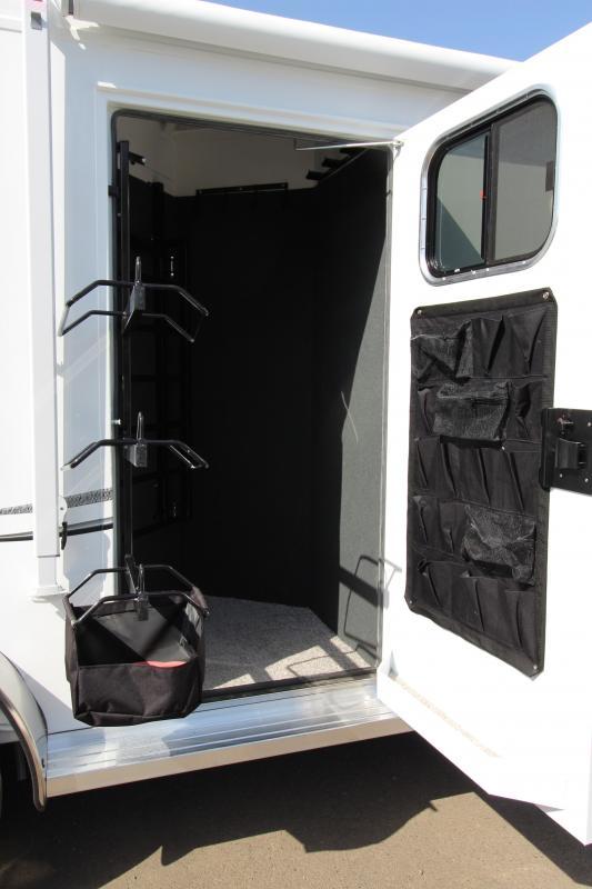 2018 Trails West Classic 10x10 - Side Tack 10' SW 2 Horse Living Quarters Trailer