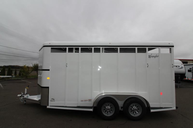 "2019 Thuro-Bilt Wrangler 3 Horse Trailer - 7'6"" Tall - Swinging Tack Wall -"