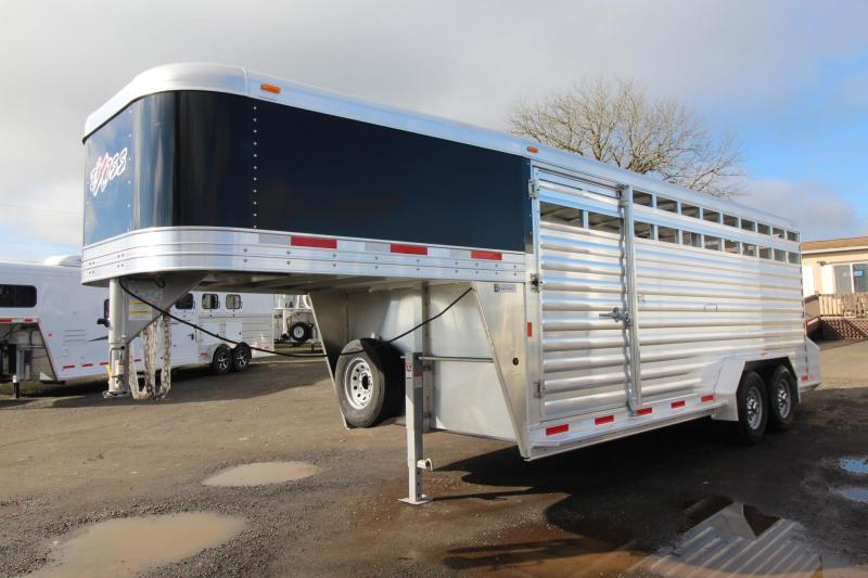 2018 Exiss STK 7020 - 20ft Livestock Trailer W/ Upgraded Side Sheets
